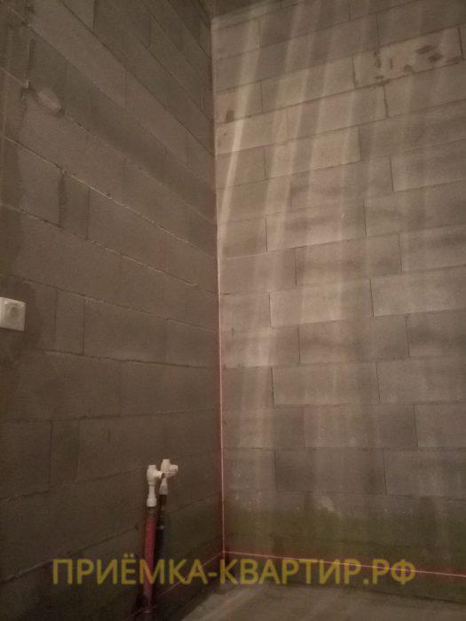 Приёмка квартиры в ЖК Стокгольм: отклонение по вертикали 70 мм