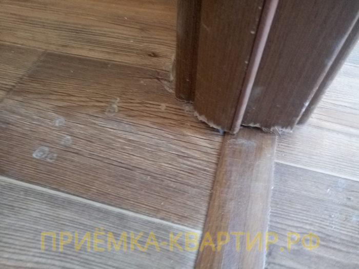 Приёмка квартиры в ЖК Юттери: неправильная установка двери