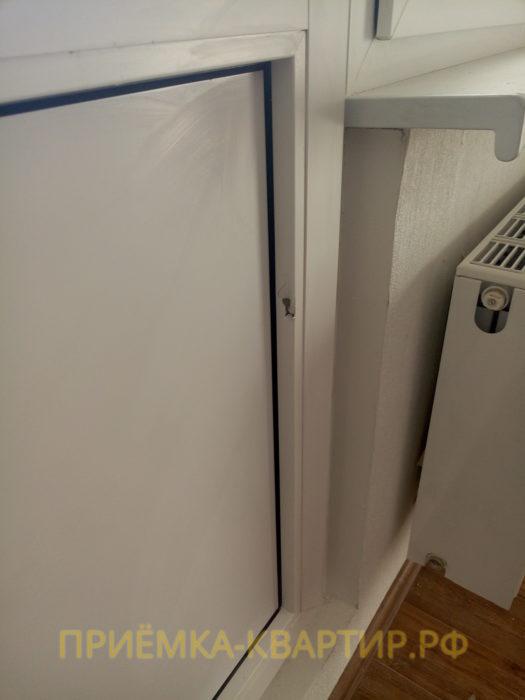 Приёмка квартиры в ЖК Юттери: поврежден штапик балконной двери