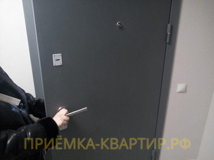 Приёмка квартиры в ЖК Юттери: не работает дверной замок