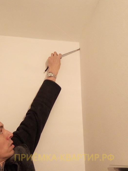 Приёмка квартиры в ЖК Юттери: отклонение по вертикали 25 мм