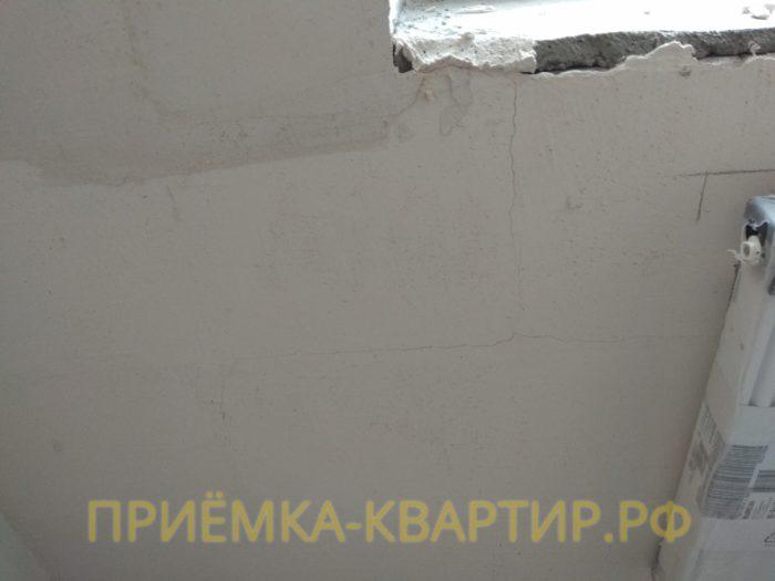 Приёмка квартиры в ЖК Новое Мурино: трещины на стенах