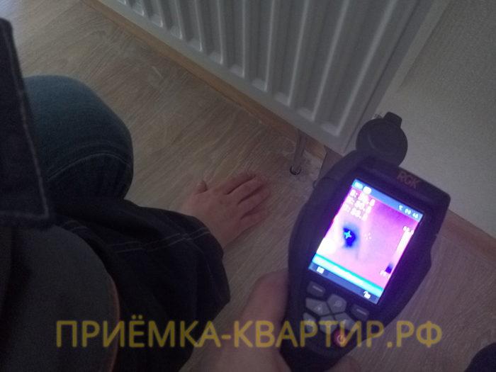 Приёмка квартиры в ЖК : с помощь тепловизора обнаружена протечка под ламинатом