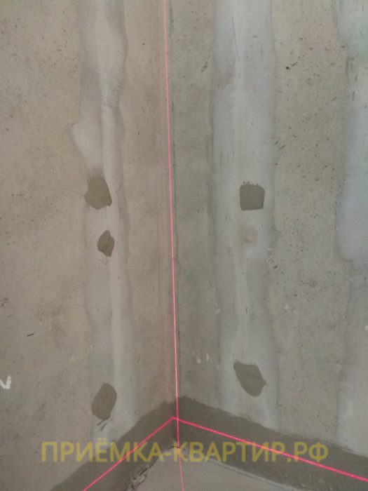 Приёмка квартиры в ЖК : отклонение по вертикали 20 мм