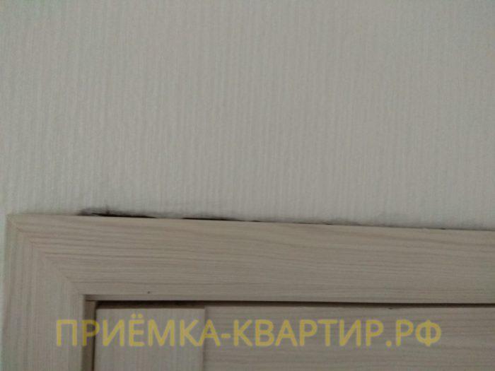 Приёмка квартиры в ЖК Новое Мурино: щель над наличником двери