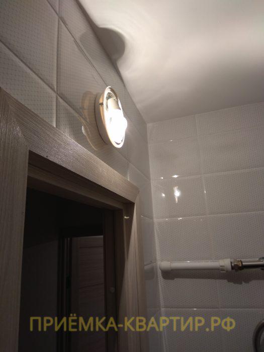 Приёмка квартиры в ЖК Новое Мурино: мигает свет в ванной комнате (плохой контакт)