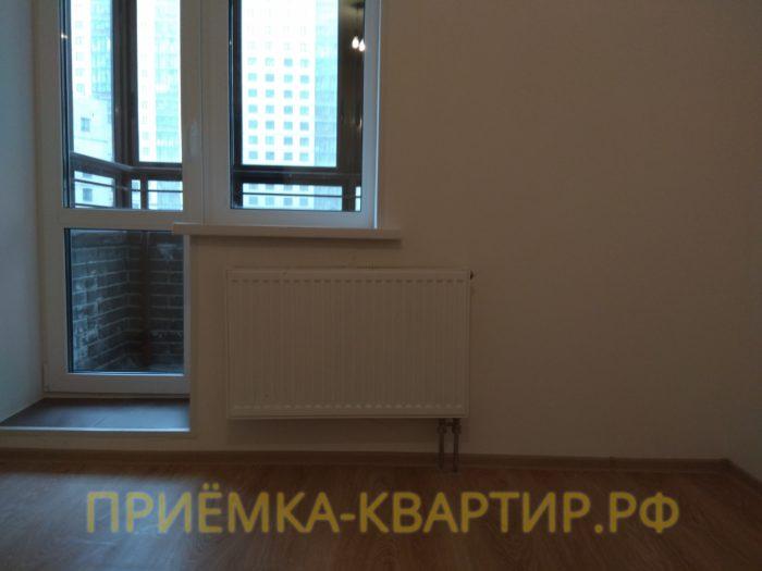 Приёмка квартиры в ЖК Новое Мурино: отклонение по горизонтали радиатора 10 мм
