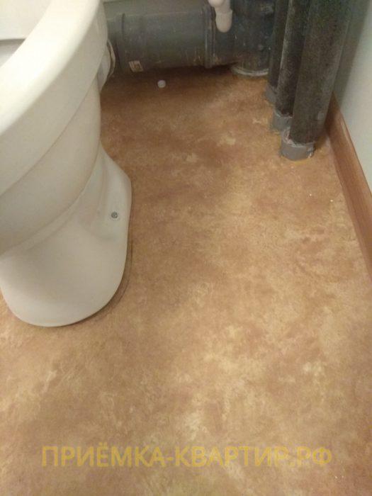 Приёмка квартиры в ЖК Колпино: не закреплен унитаз