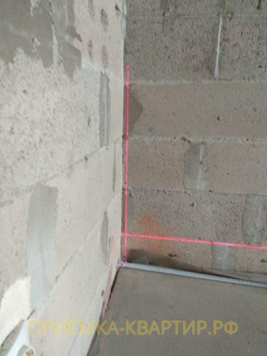 Приёмка квартиры в ЖК Медалист: отклонение вертикали 20мм
