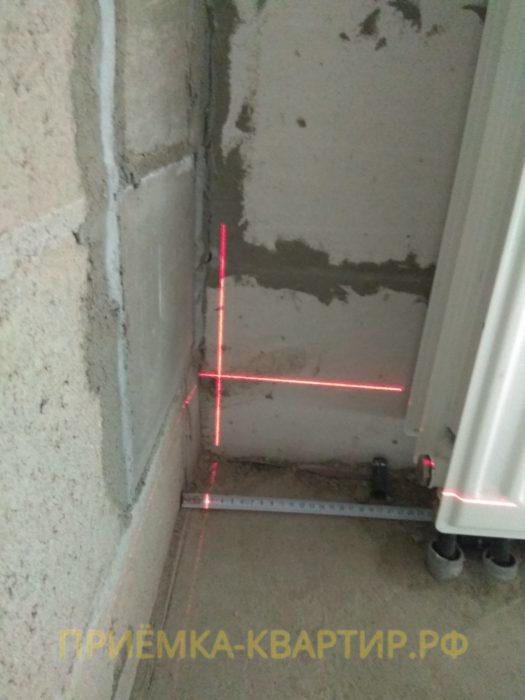 Приёмка квартиры в ЖК Медалист: отклонение вертикали 25мм