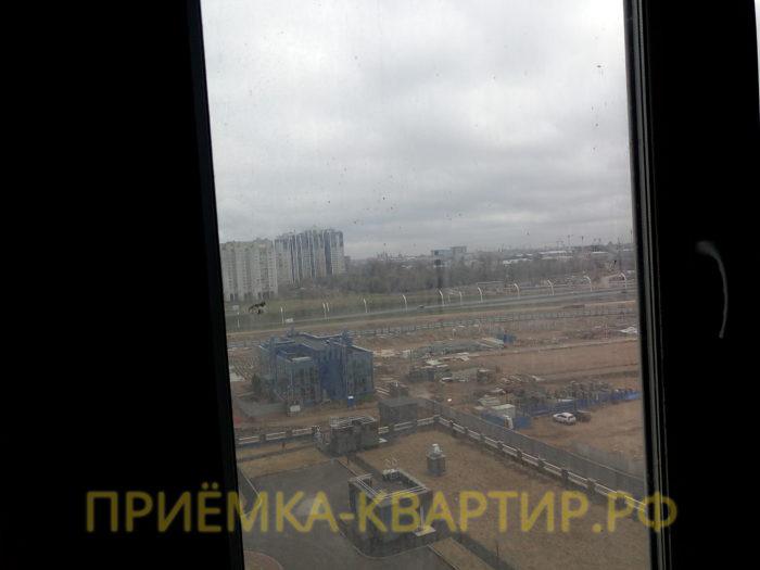Приёмка квартиры в ЖК Капитан Немо: окалины на стеклах