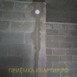 Приёмка квартиры в ЖК Капитан Немо: отклонение по вертикали 25 мм