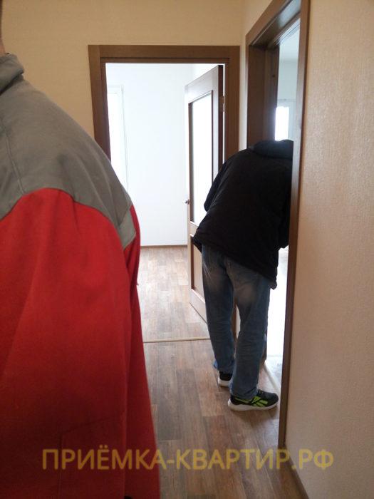 Приёмка квартиры в ЖК София: не функционировал дверной замок (устранено на месте)