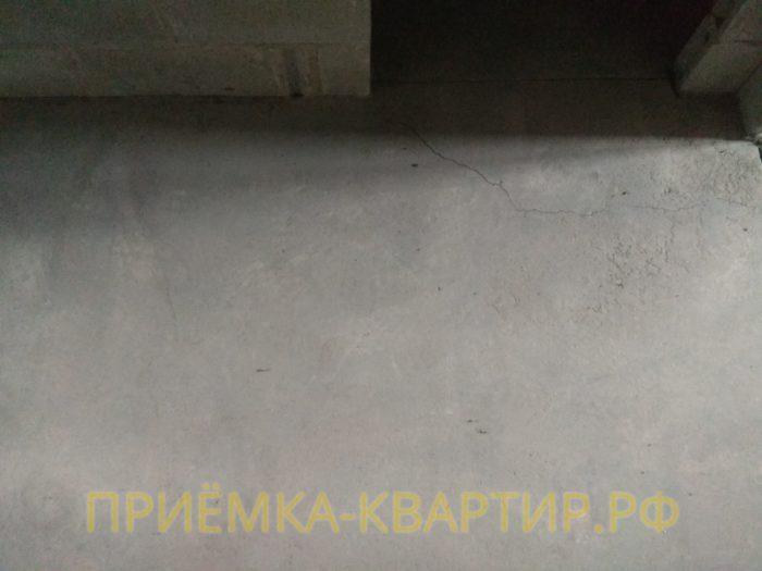 Приёмка квартиры в ЖК Капитан Немо: некачественное устройство стяжки пола