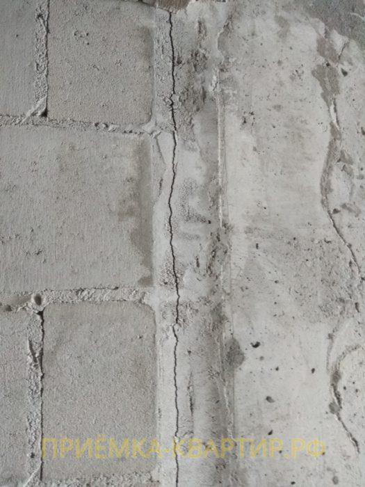 Приёмка квартиры в ЖК Капитан Немо: трещины на стенах