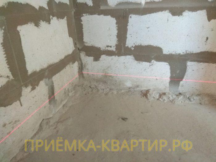 Приёмка квартиры в ЖК Есенин Village: наплывы цементного раствора