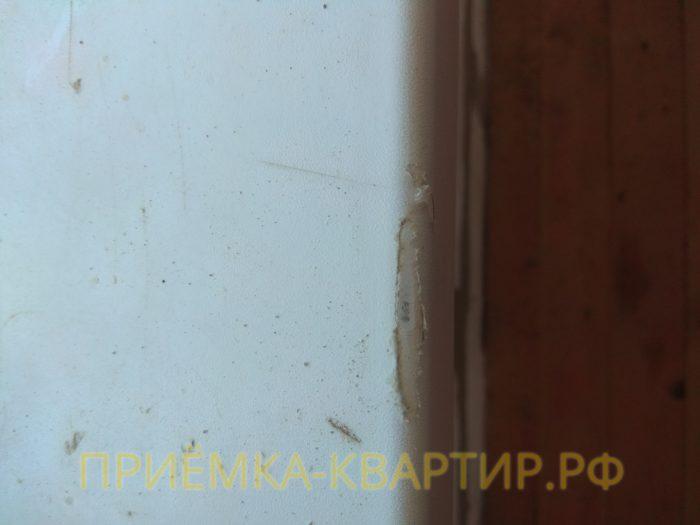 Приёмка квартиры в ЖК Есенин Village: поврежден подоконник