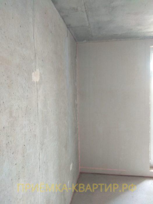 Приёмка квартиры в ЖК Московские ворота: отклонение по вертикали 20 мм