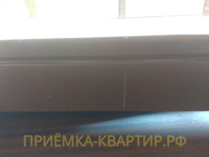 Приёмка квартиры в ЖК : повреждения лакокрасочного покрытия на оконных и балконных профилях