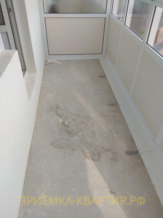Приёмка квартиры в ЖК Лондон: наплывы цементного раствора