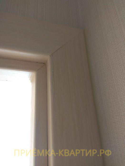 Приёмка квартиры в ЖК Ясно Янино: повреждения наличника двери