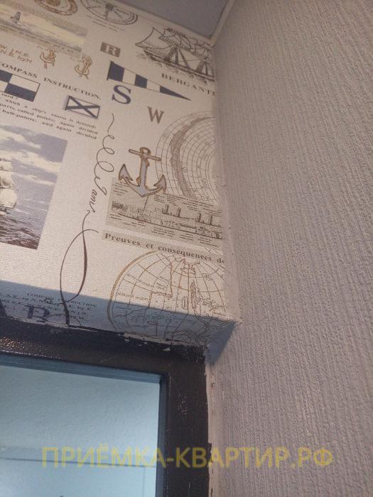 Приёмка квартиры в ЖК Я-Романтик: следы краски на обоях