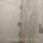 Приёмка квартиры в ЖК Краски Лета: отклонение по вертикали 20 мм