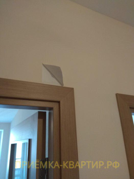 Приёмка квартиры в ЖК Лайф Приморский: отслоение обоев