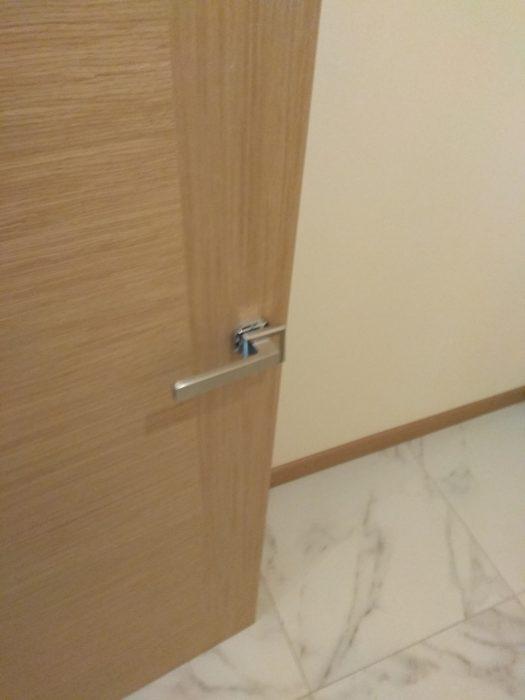 Приёмка квартиры в ЖК Лайф Приморский: не закреплена накладка (розетка) на ручке межкомнатной двери