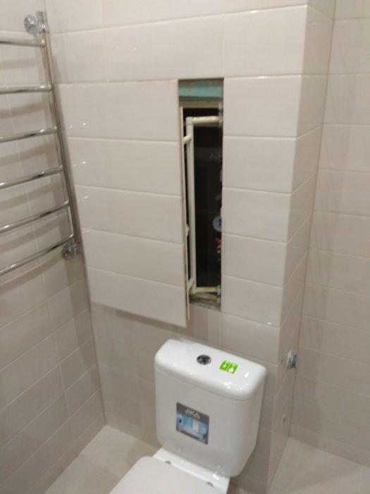 Приёмка квартиры в ЖК Лайф Приморский: требуется регулировка люка ревизионного