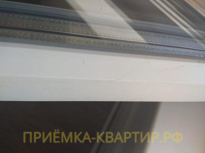 Приёмка квартиры в ЖК Новая Охта: поцарапан оконный профиль