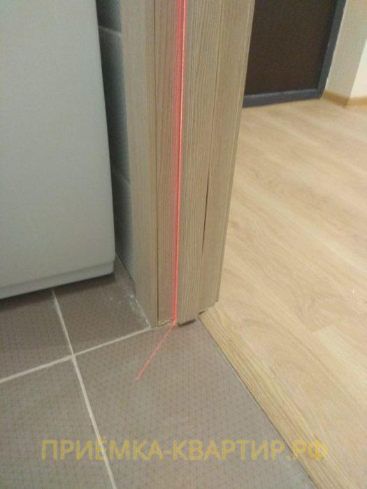 Приёмка квартиры в ЖК Весна 3: коротко обрезана дверная коробка