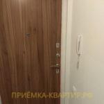 Приёмка квартиры в ЖК Шуваловский: отклонение по вертикали входной двери 10 мм