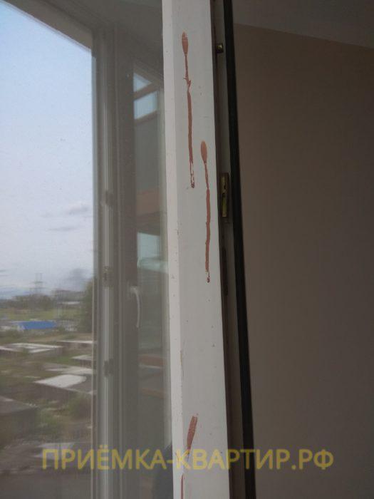 Приёмка квартиры в ЖК : следы краски на профиле