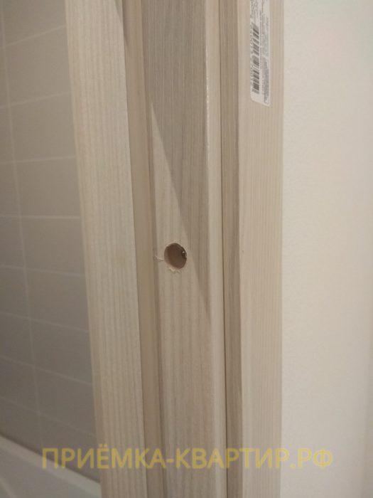 Приёмка квартиры в ЖК Муринский Посад: отсутствуют заглушки на двери