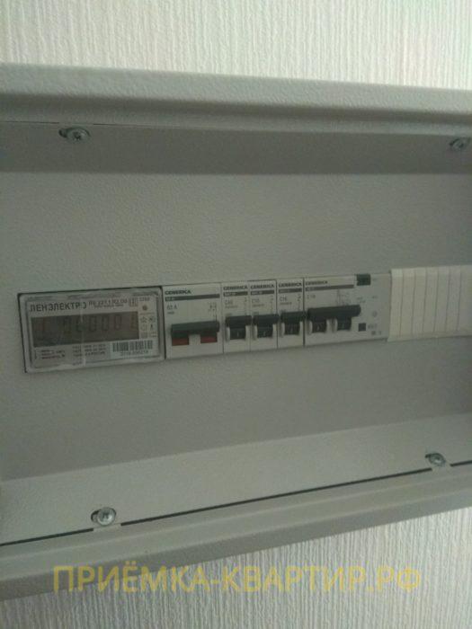 Приёмка квартиры в ЖК Муринский Посад: не подписаны автоматы в электрощите