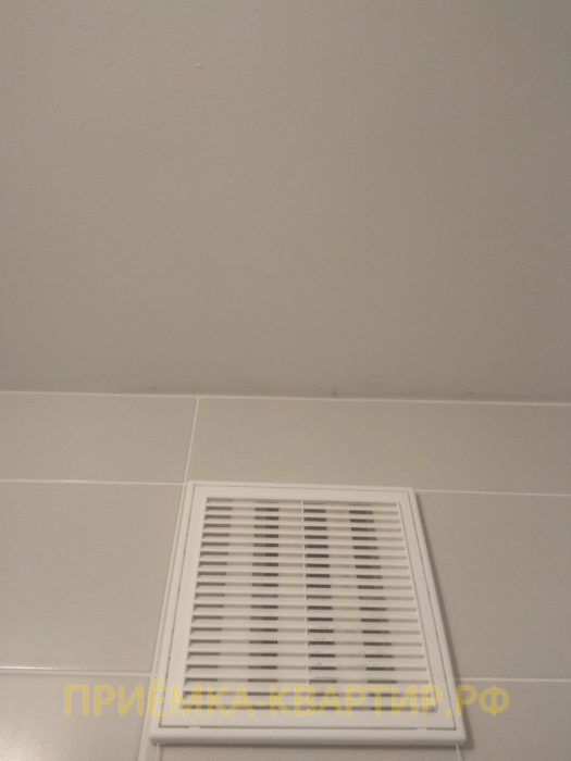 Приёмка квартиры в ЖК Муринский Посад: повреждения краски на потолке
