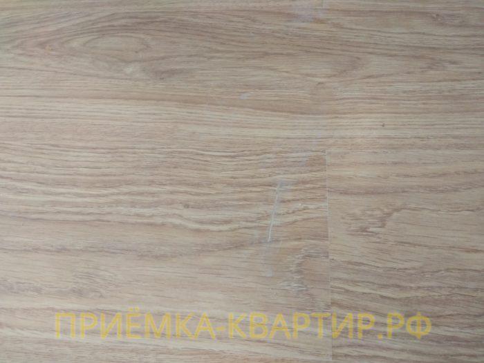 Приёмка квартиры в ЖК София: царапины на ламинате