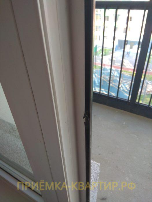 Приёмка квартиры в ЖК О Юность: повреждена уплотнительная резинка