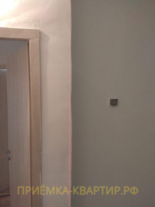 Приёмка квартиры в ЖК О Юность: кривизна стен более 20 мм