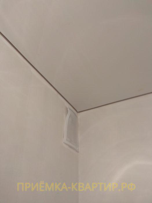 Приёмка квартиры в ЖК О Юность: повреждена вентиляционная решетка