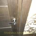Приёмка квартиры в ЖК Чистое Небо: необходима регулировка замка межкомнатной двери