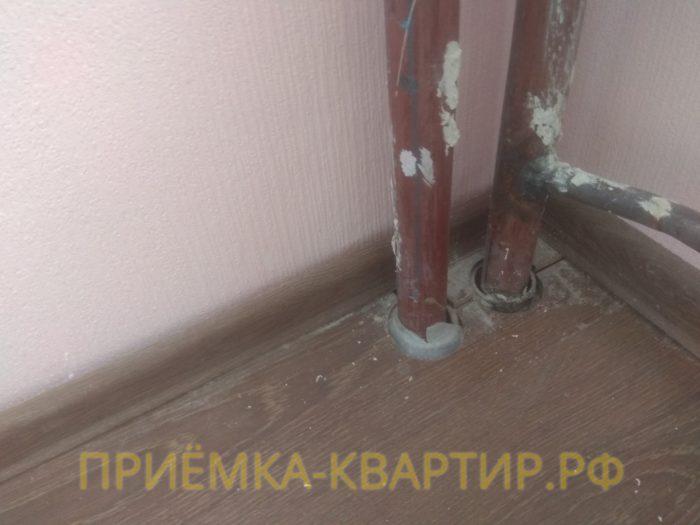 Приёмка квартиры в ЖК О Юность: не зачеканены трубы