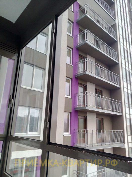 Приёмка квартиры в ЖК Лондон: Отсутствует створка на балконе