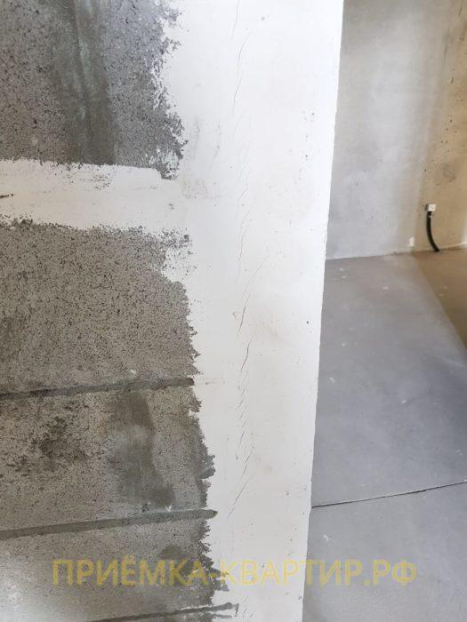 Приёмка квартиры в ЖК Форвард: Усадочная трещина на вентиляционном канале