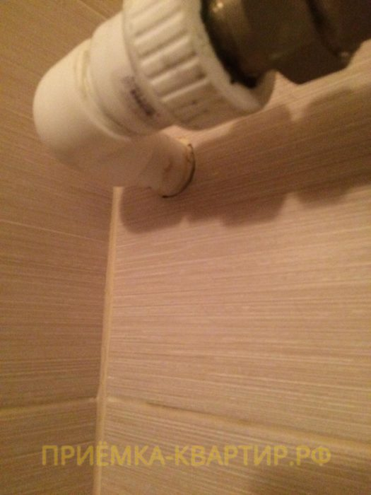 Приёмка квартиры в ЖК Green City: Не закреплён полотенцесушитель