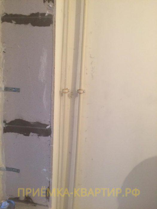 Приёмка квартиры в ЖК Малая Охта: Трубы отопления искривлены