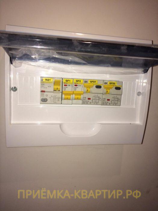 Приёмка квартиры в ЖК Малая Охта: Отсутствует маркировка электрического щитка