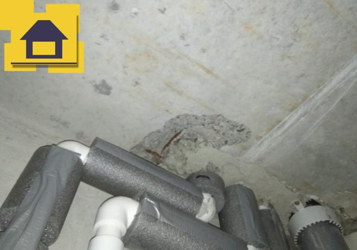 Приёмка квартиры в ЖК Галактика: Сколы, разрушения бетона