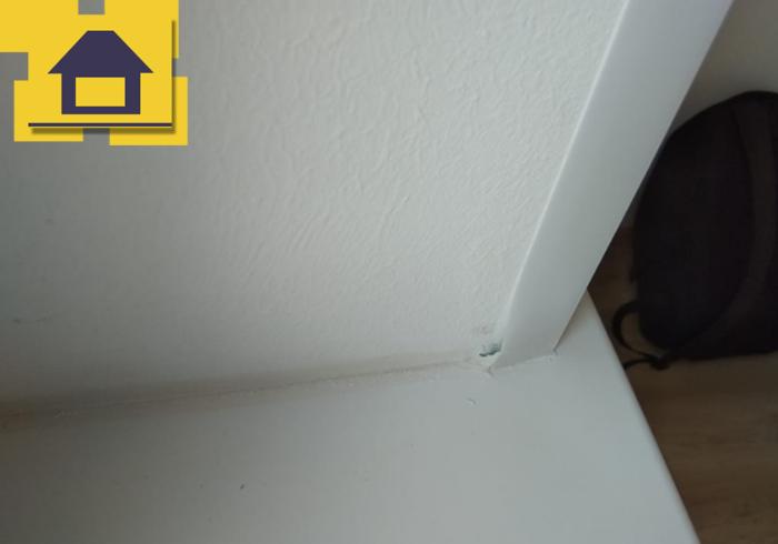 Приёмка квартиры в ЖК Краски Лета: Деформация декоративного уголка